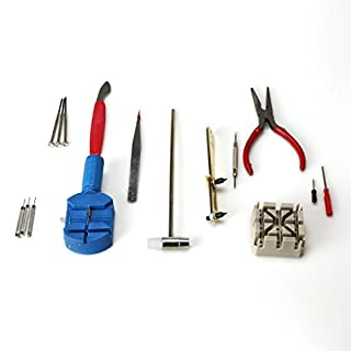 Watch Repair Kit Tools,AmaMary 16 Piece Watch Repair Kit Set & Wrist Strap Adjust Pin Tool Kit Back Remover Fix