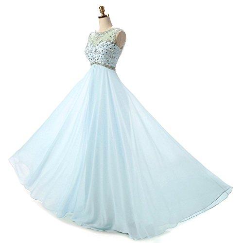 ... Ysmo Frauen a-line Chiffon funkelnden Perlen Prom Homecoming Kleider  lange formale Abendkleider Lila ...