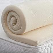 Memory Foam (Harmony Visco Elastic) Mattress Topper with Removable Luxurious Velour Cover, Height of (5 Cm), W