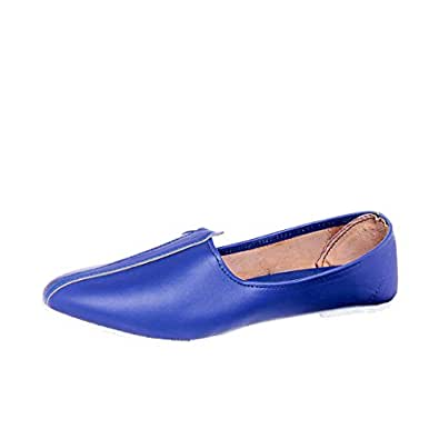 Foot 'N' Style Blue Men's Punjabi Jutti 11 UK