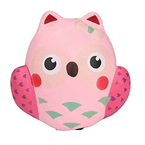 Rcool Creative Stress Reliever Vent Squishy Squeeze Simulation Owl Super Slow Rising Soft Toy Fun Decoration Kid