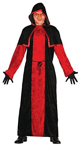 satanischer Mönch Halloween Kostüm für Herren Herrenkostüm Pastor Mönchkostüm Pfarrer Priester Horror Kirche Gr. M-L, Größe:L