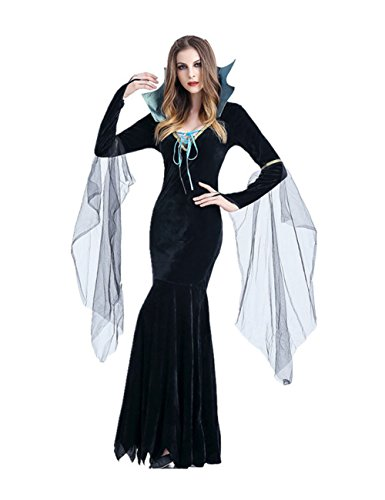 Uleade Halloween erwachsene weibliche Vampir Kostüm Königin griechische Göttin Fancy Dress Up Party Halloween Kostüm Outfit (Weibliche Griechische Kostüme)