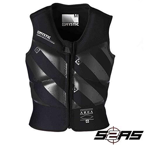 2018 Mystic Block Kite Impact Vest Front Zip BLACK 140295 Sizes- - Medium