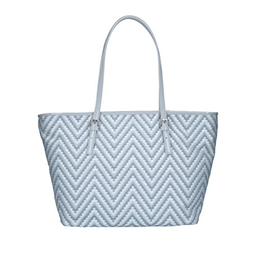 Bright - Vanity - Borsa In Tessuto E Paglia Made In Italy - Shopper grigio
