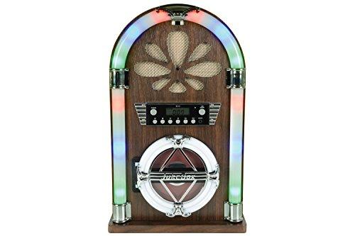 QTX Roadhouse Mini-Jukebox mit Bluetooth, CD-Player und FM-Radio