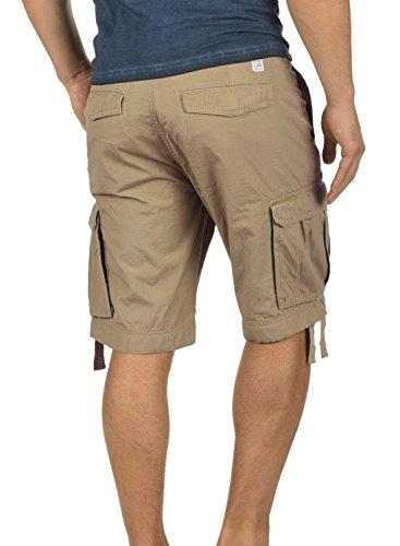 BLEND Kolo Herren Cargo-Shorts kurze Hose mit Taschen aus 100% Baumwolle Safari Brown (75115)