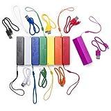 Powerbank, 2600 mAh, in Geschenkbox, mit USB-Kabel, ideales Ladegerät als Andenken, Hochzeitsgeschenke, Taufen, Kommunionen