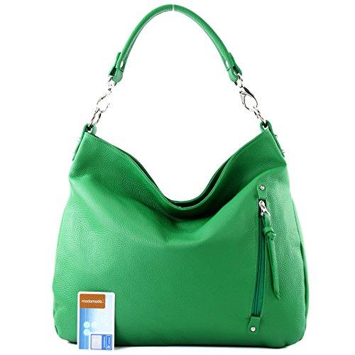 Borsa In Pelle Shopper Donna Borsa A Tracolla In Pelle Nappa Pelle T121 Verde