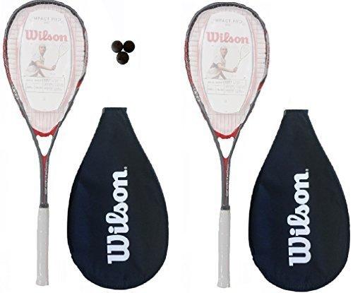 Wilson Squashschläger Pro 900, mit 3 Wilson Squashbällen, 2Stück
