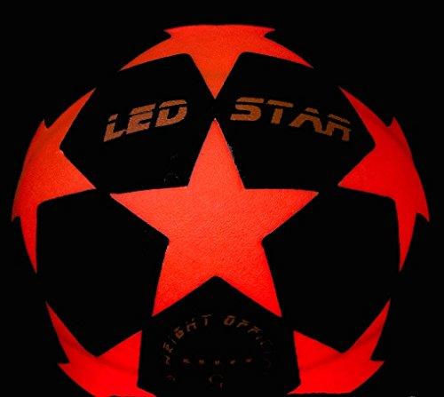 ¡pelota de futbol con luz NIGHT KICK LED STAR - el regalo de final de fútbol para jóvenes y adultos!...
