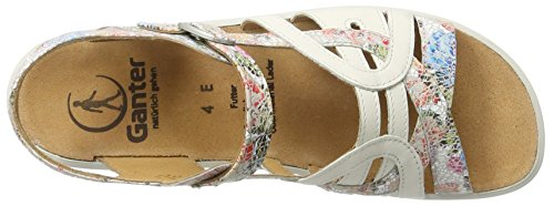 Ganter Sonnica-e, Sandales  Bout ouvert femme Mehrfarbig (rose/weiss)