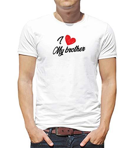 3bbf8bba532cc9 LumaShirts I Love My Brother Family Quote Relationship 000390 Shirt XL Man T -Shirt White