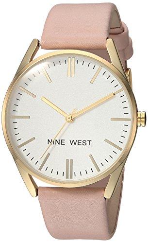 Reloj Nine West para Mujer con Piel sintética y Oro Dorado