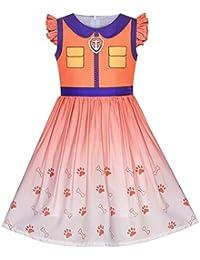 Sunboree Mädchen Kleid Pfote Patrol Marshall Kostüm Halloween Party Gr. ... 2a9a95d549