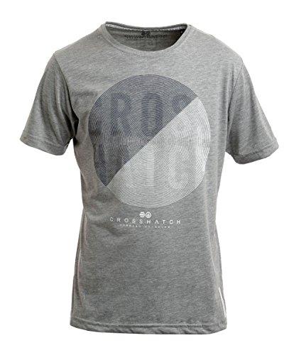 CROSSHATCH Herren T-Shirt Grooves Grau