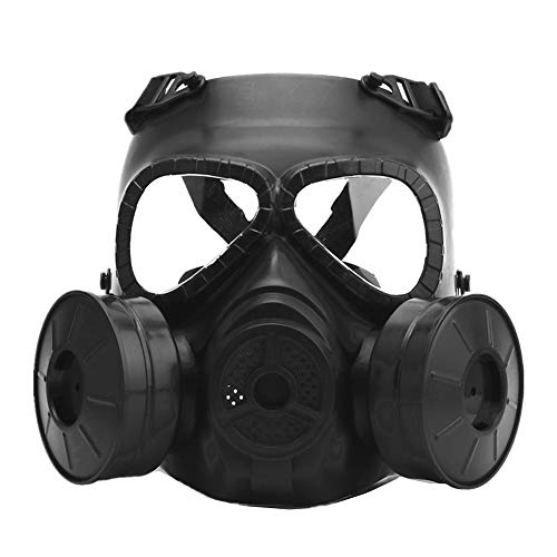 AFfeco M04 Airsoft Tactique Masque de Protection, Masque à gaz avec Sangle Ajustable pour BB Pistolet CS Cosplay Costume d'halloween Masquerade