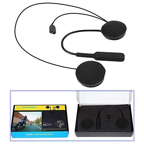 KOBWA Auriculares Bluetooth con micrófono para Casco de Moto, Motocicleta Smart Ear...