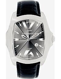 Chronotech PRISMA REVOLUTION - Reloj analógico de caballero de cuarzo con correa de piel negra - sumergible a 30 metros