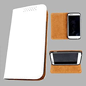 i-KitPit PU Leather Flip Case For Micromax A68 Smarty (WHITE)