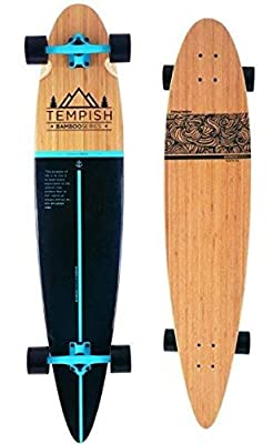 Unbekannt Tempish Flow Bamboo Collection 46 Zoll Longboard, Natural Wood, One Size