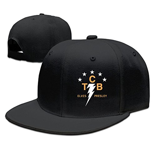 Hittings AAWODE Unisex TCB Elvis Presley Adjustable Snapback Hip-hop Baseball Cap Black par  Hittings