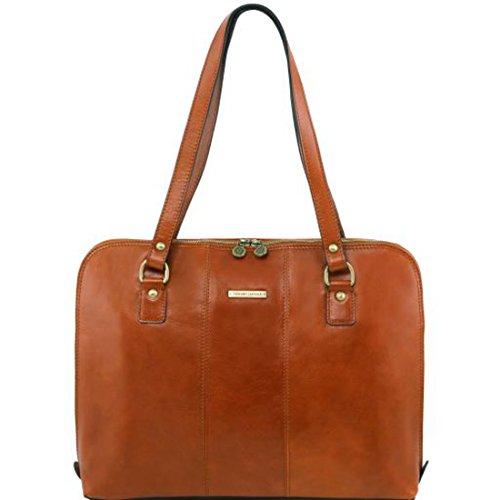Tuscany Leather - Ravenna - Esclusiva borsa business per donna Nero - TL141277/2 Miele