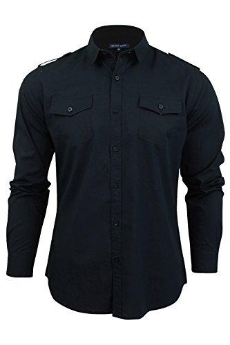 brave-soul-mens-charlie-long-sleeve-cotton-shirt-navy-blue-medium