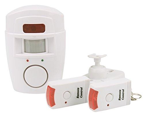 Olympia BM 200 PIR-Bewegungsmelder mit Alarm (Kabellose Alarmanlage, 105 dB Alarm, Fernbedienung, Drahtloser Bewegungssensor mit Batterie, IR Haus-Alarm für Innen)