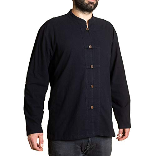 PANASIAM ShirtBEN-5Button, Black XXL -