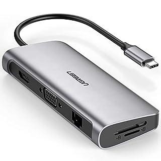 UGREEN 9 in 1 USB C HUB HDMI 4k, VGA, Gigabit Ethernet Port, 3 USB 3.0 Ports, 60W Power Delivery, SD/Micro SD Kartenleser