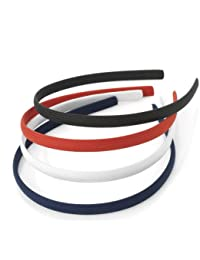 4pc Fabric Covered Headbands Alice Bands. (School Colours)