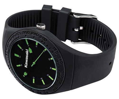Preisvergleich Produktbild Kawasaki Armbanduhr Silikon Schwarz