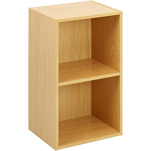 Oypla 2 Tier Holz Regal Buche Bücherregal Regal Storage Display Rack (Buche Bücherregal)