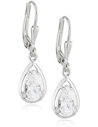 Silberdream Damen-Ohrhänger Träne Weiß 925 Silber Sdo520W