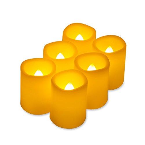 Kohree 6 LED Votiv Flammenlose Kerzen mit Timer, Batteriebetriebene Kerzen, 5 Stunden Timer