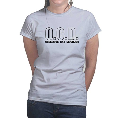 OCD Obsessive Cat Disorder - Kitty Kitten Pet Ladies T Shirt (Tee, Top) Grey