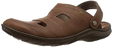 Clarks Men's Woodlake Creek Brown Leather Sandals and Floaters - 13 UK