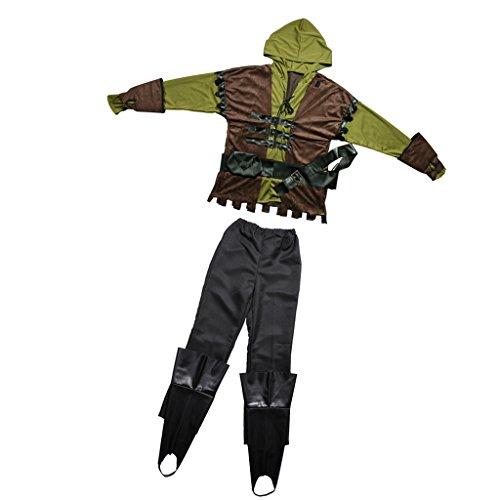 MagiDeal Robin Hood Kostüm Herren Faschings-Kostüm - M