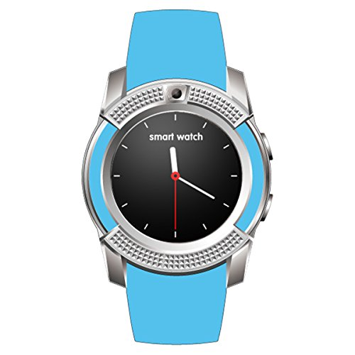 HealthMax HT V8 Sky Blue Smartwatch Compatible With Intex Aqua Play Mobiles