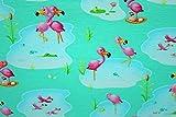 Jerseystoff Flamingo Life mint | 1,50 Meter breit | wird in