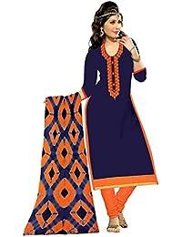 MAHI FASHION Women's Cotton Dress Material (MF19_Free Size_Multi-Coloured)