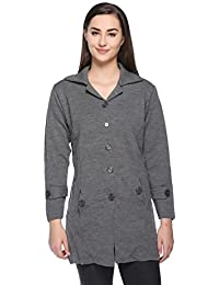 Montrex Women Grey Stylish Coats