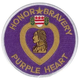 NEW Purple Heart 3.5 Patch by Eagle Crest (Purple Heart Patch)