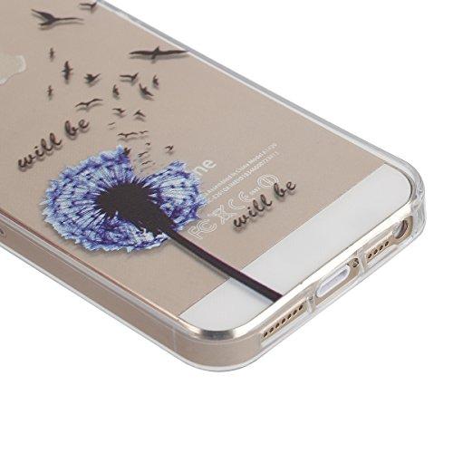 Apple iphone 6s plus Transparent Silikon Case,iPhone 6 plus hülle,Ekakashop Ultra dünn Slim Durchsichtig Transparente Muster Crystal Gel Silikon TPU Motiv Bumper Cas Schutzhülle Etui Tasche Cover Schu Löwenzahn