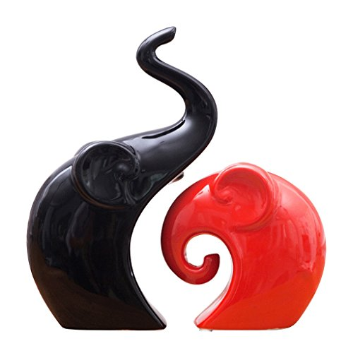 Figurines De Décoration Amour Éléphant Taille 22 Et 13 Cm Set De 2