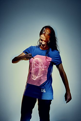 Illuminated Apparel Interaktive Leucht T-Shirt Blau/Rosa