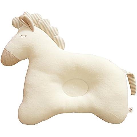 Bebé orgánico del algodón protectora de almohada (Baby caballo) Dormir Almohada desde recién nacido
