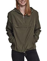 Urban Classics Damen Übergangsjacke Ladies Basic Pull-Over Jacket, leichte Streetwear Schlupfjacke, Windbreaker Überziehjacke für Frühjahr und Herbst