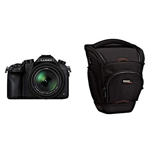 Panasonic LUMIX DMC-FZ1000EG Premium-Bridgekamera (20,1 Megapixel, 16x Opt. Zoom, Opt. Bildstabilisator, Leica DC Vario-ELMARIT Objektiv, 4K Video) schwarz & AmazonBasics SLR-Schultertasche (schwarz)